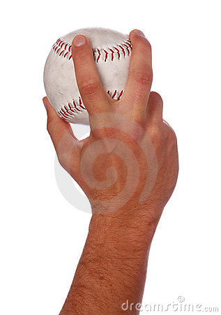 Man throwing softball ball