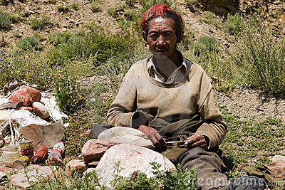 Man tibet Redaktionell Arkivfoto