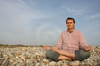 Man to meditate