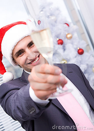 Man toasting