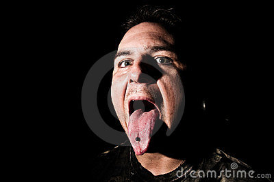 Man with a Tongue Ring
