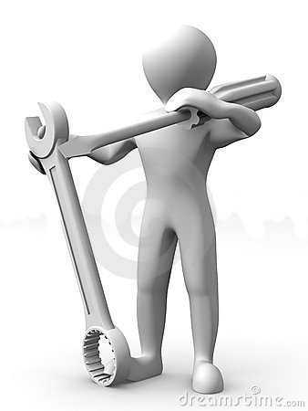 Man with tools. Maintenance