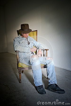 Man Tough Guy Dude Wearing Old Clothes Portrait