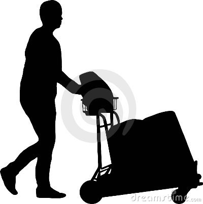 Man with trolley
