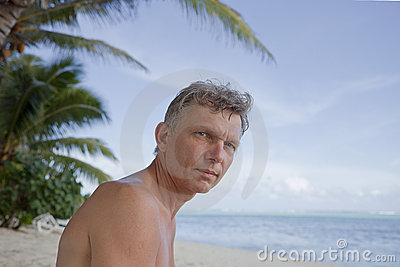 Man on tropical Beach