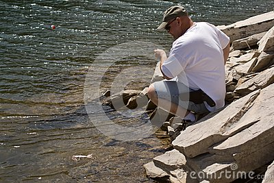 Man Trout Fishing Stock Image - Image: 8821721