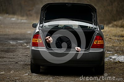 Man in the trunk