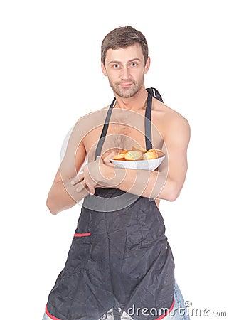 Man trying his hand at baking