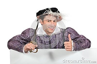 Man in Tudor costume