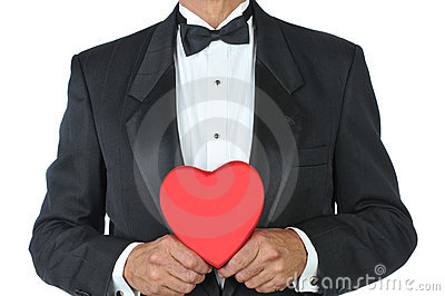 Man-in Tuxedo with Red Heart
