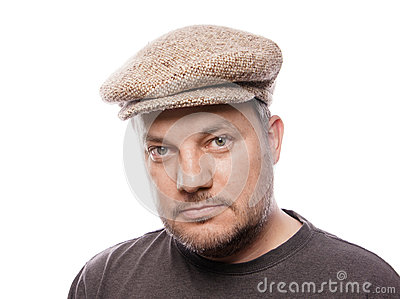 Man with tweed cap
