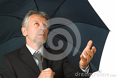 Man with the umbrella