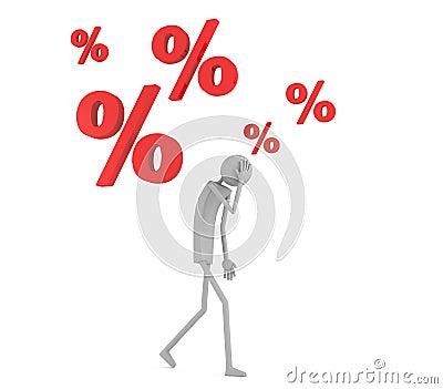 Man under debt pressure
