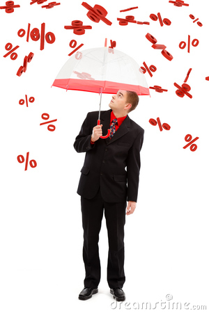 Man under falling percents