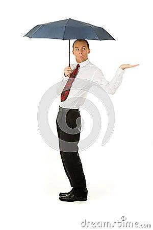 Man under the umbrella