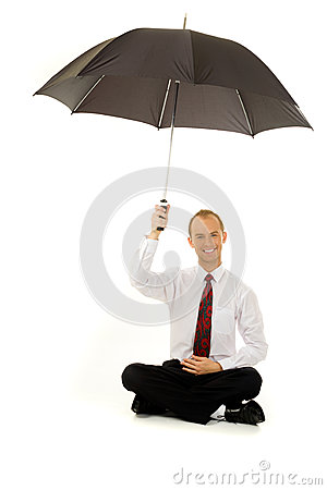 Man under the umbrella
