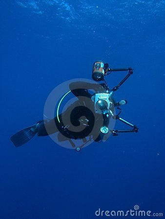 Man Underwater Photographer Scuba Diving