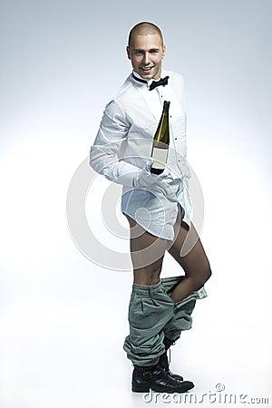 Free Man Undressing Stock Photo - 15110310