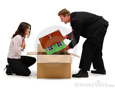 Man unpacking a new house for wife or client