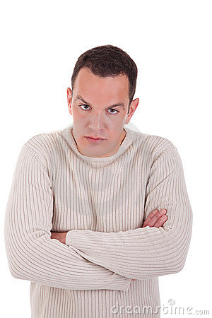 Man upset with his arms crossed