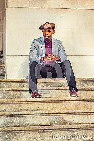 Free Man Urban Fashion. Royalty Free Stock Image - 97745376