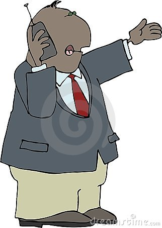 Man using a cellphone