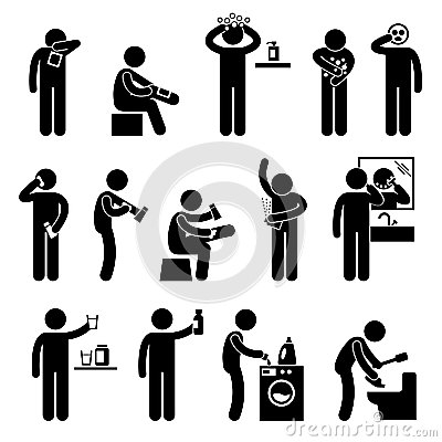 Man using Healthcare Product Pictogram