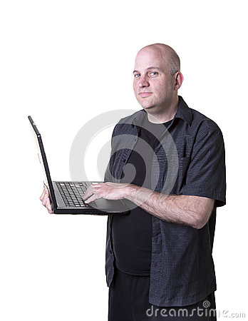 Man using laptop