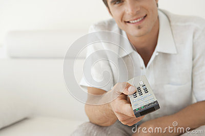 Man Using a Remote Control