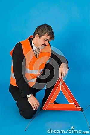 Man with vest