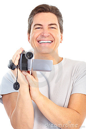 Man with video camera