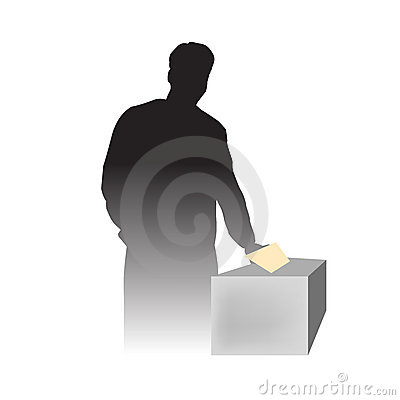 A man voting at election day