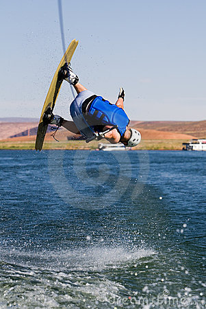 Man wakeboarding at Lake Powell 03