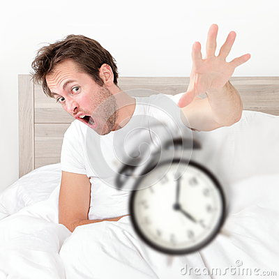 man waking up late for work early throwing alarm royalty waking up clipart images wake up clipart