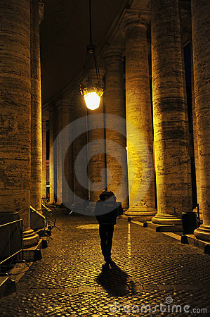 Free Man Walking Alone In Rome, Italy Stock Image - 19668381