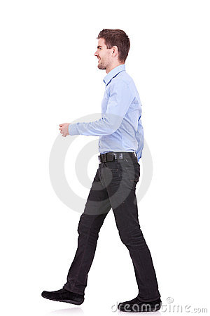 Man walking forward