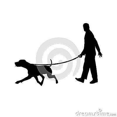 Man walking with his dog