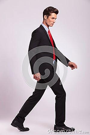 Man walking and looking forward