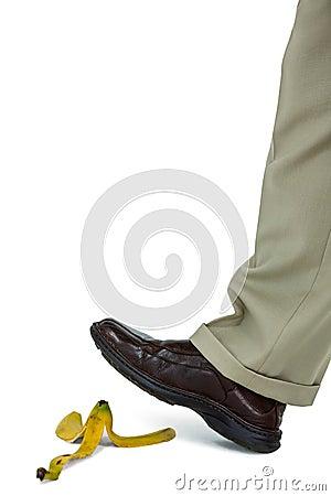 Free Man Walking On A Banana Skin Royalty Free Stock Photo - 65372765