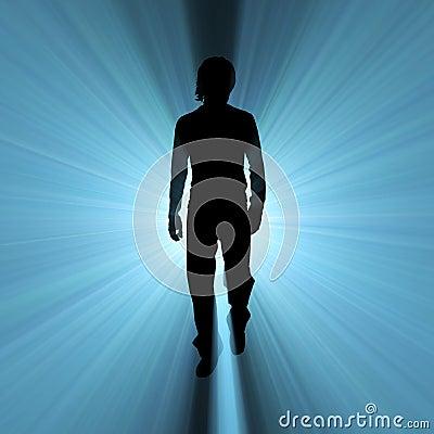 Man Walking Shadow Light Flare Royalty Free Stock Image ...
