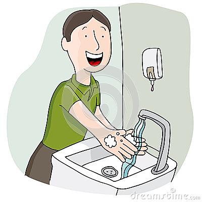 Free Man Washing His Hands Stock Images - 41844444