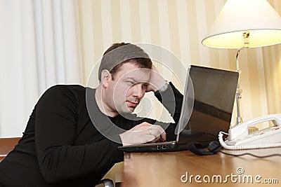 Man watches film