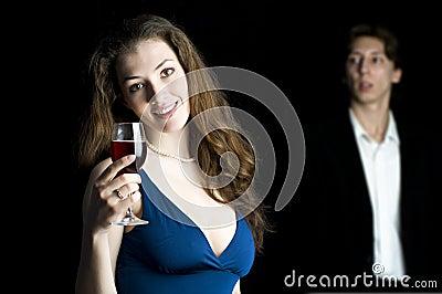 Man watching a girl