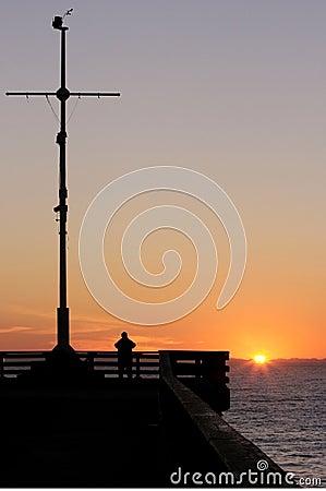 Man watching the sun rise