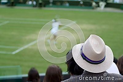 Man watching tennis match