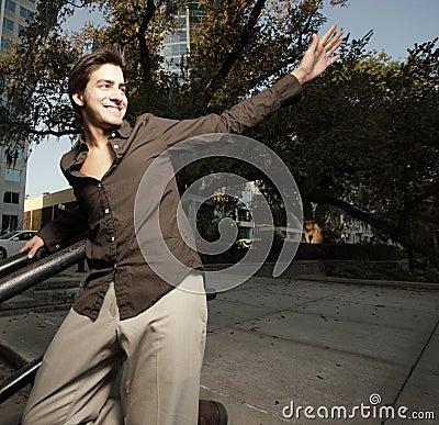 Man waving
