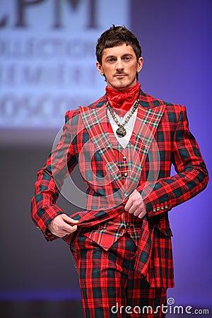 Man wear checkered suit from Slava Zaytzev Editorial Photo