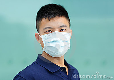 Man wear face mask