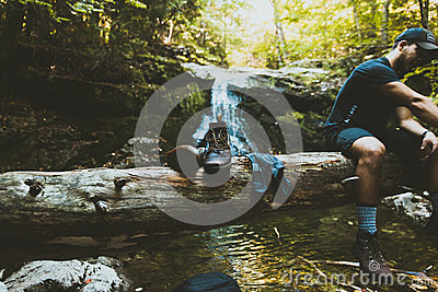 Man Wearing Black Shirt Near Black Leather Lace Up Shoes Near Body Of Water During Daytime Free Public Domain Cc0 Image