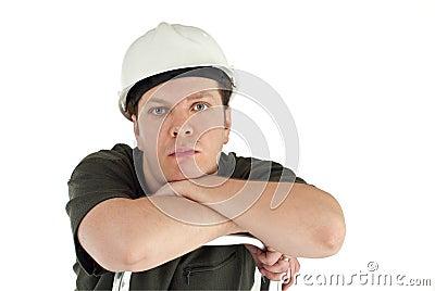 Man wearing helmet.